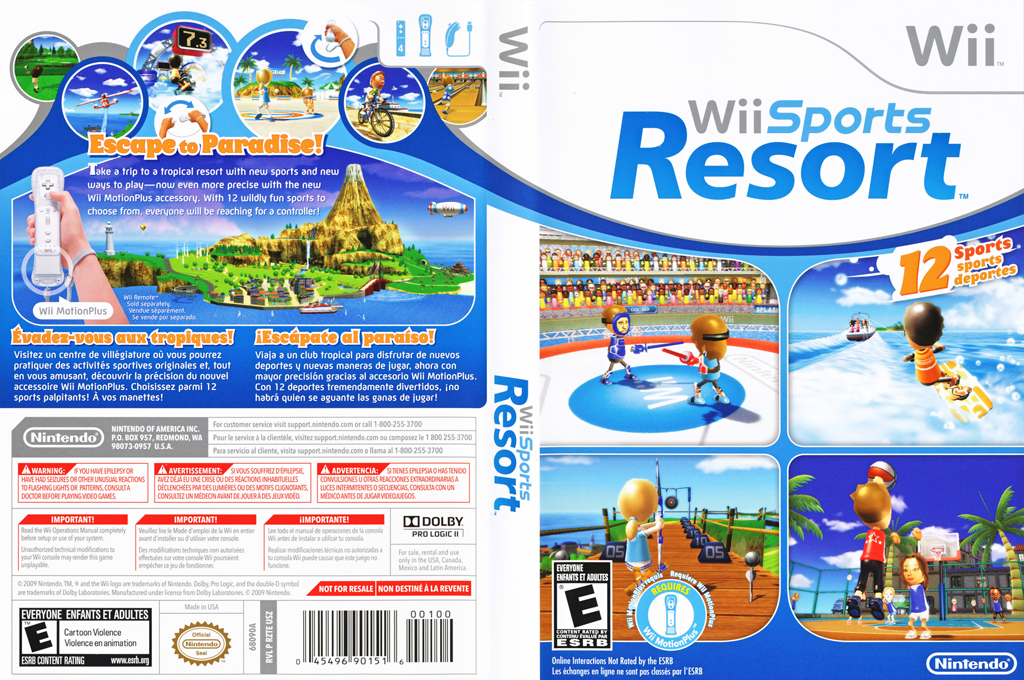Wii Sports Resort Wii coverfullHQ (RZTE01)