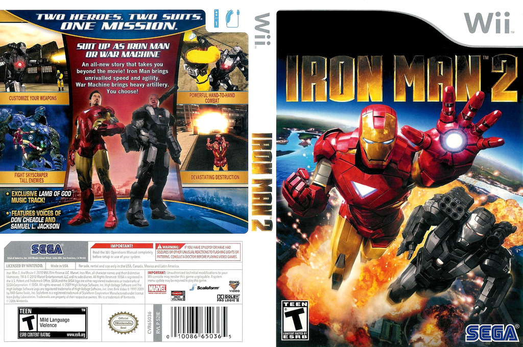 Iron Man 2 Wii coverfullHQ (S2IE8P)