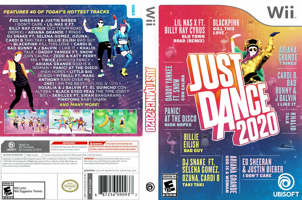 Just Dance 2020 Wii coverfullHQ (S2UE41)