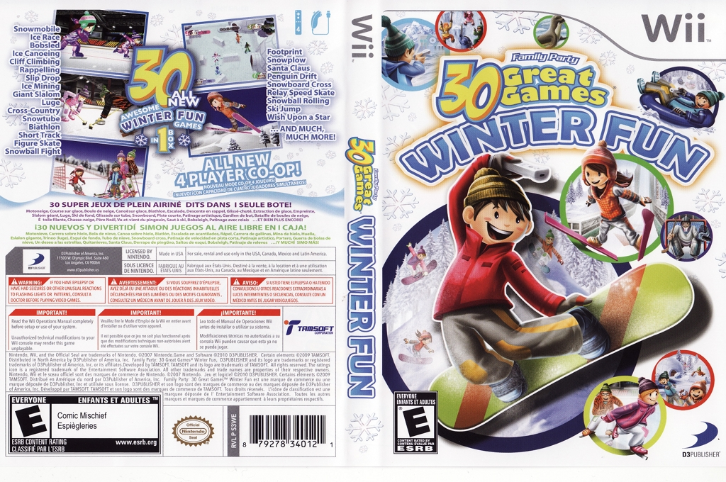 Family Party: 30 Great Games Winter Fun Wii coverfullHQ (S3WEG9)