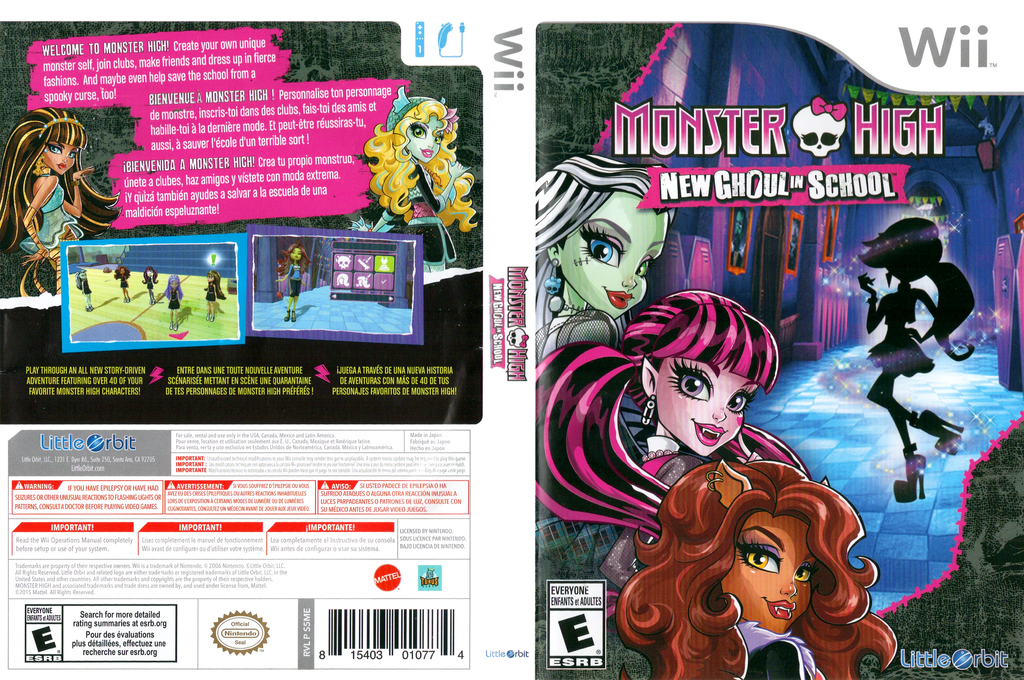 Monster High: New Ghoul in School Wii coverfullHQ (S5MEVZ)