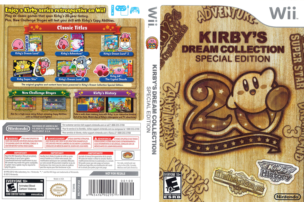Kirby's Dream Collection: Special Edition Wii coverfullHQ (S72E01)