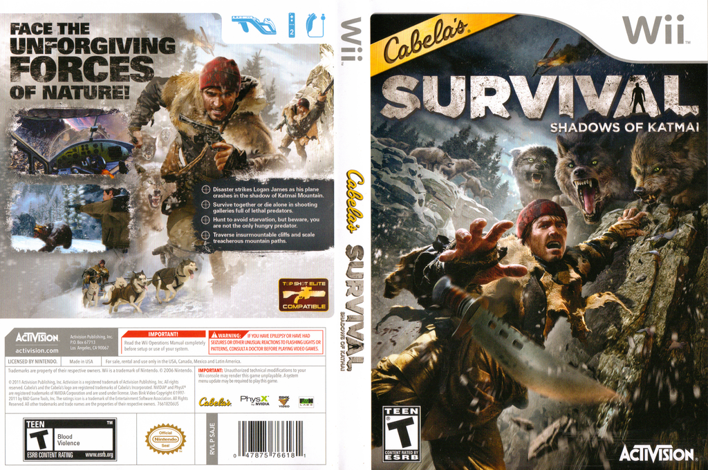 Cabela's Survival: Shadows of Katmai Wii coverfullHQ (SAJE52)