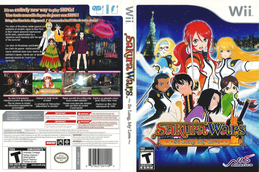Sakura Wars: So Long, My Love Wii coverfullHQ (SAKENS)