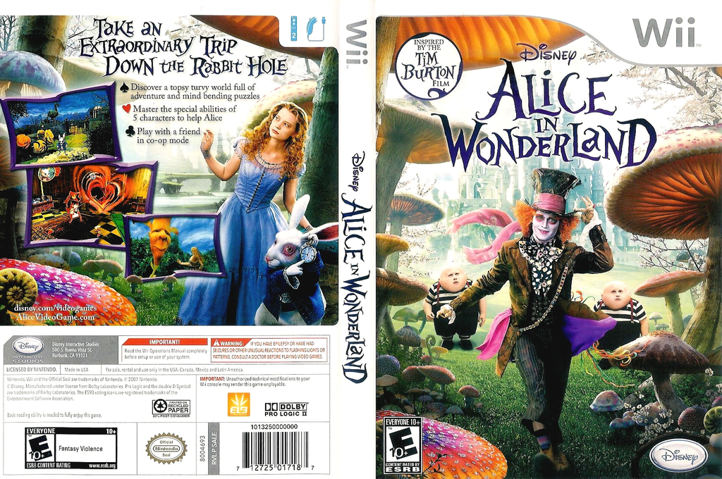 Alice in Wonderland Wii coverfullHQ (SALE4Q)