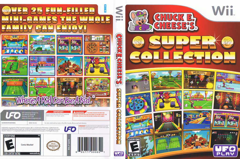 Chuck E. Cheese's Super Collection Wii coverfullHQ (SATE6K)