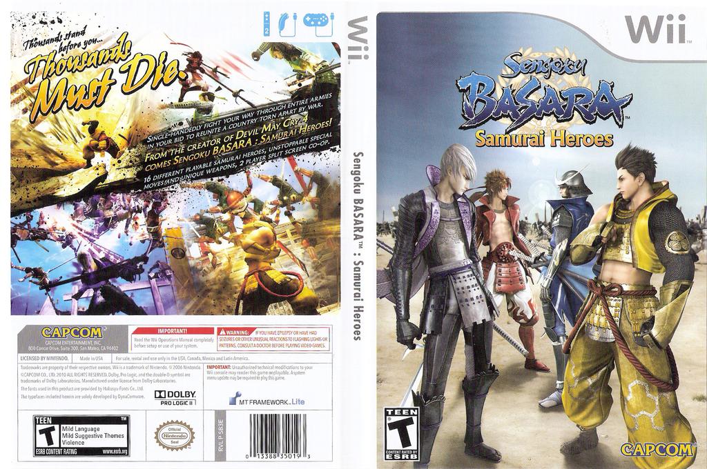 Sengoku Basara: Samurai Heroes Undub Wii coverfullHQ (SB3EUD)