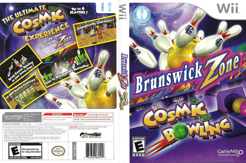 Brunswick Zone Cosmic Bowling Wii coverfullHQ (SBKEPZ)