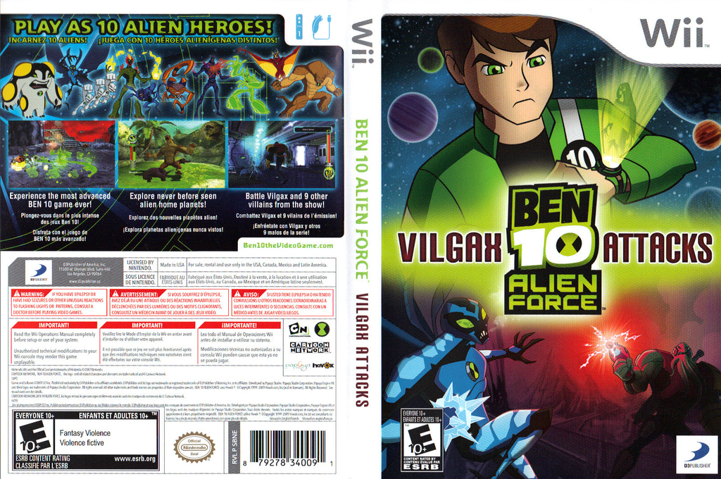 Ben 10: Alien Force Vilgax Attacks Wii coverfullHQ (SBNEG9)