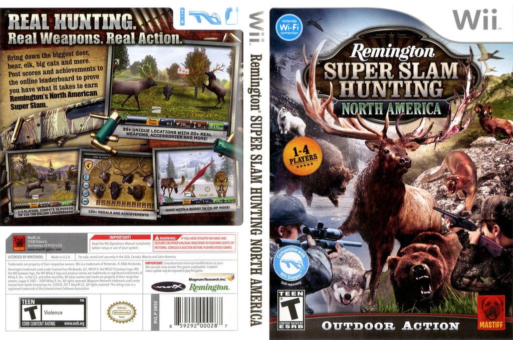 Remington Super Slam Hunting: North America Wii coverfullHQ (SBSEFP)