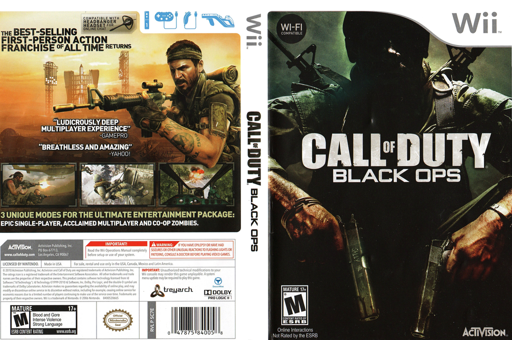 Call of Duty: Black Ops Wii coverfullHQ (SC7E52)