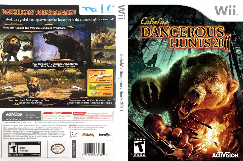 Cabela's Dangerous Hunts 2011 Wii coverfullHQ (SCDE52)