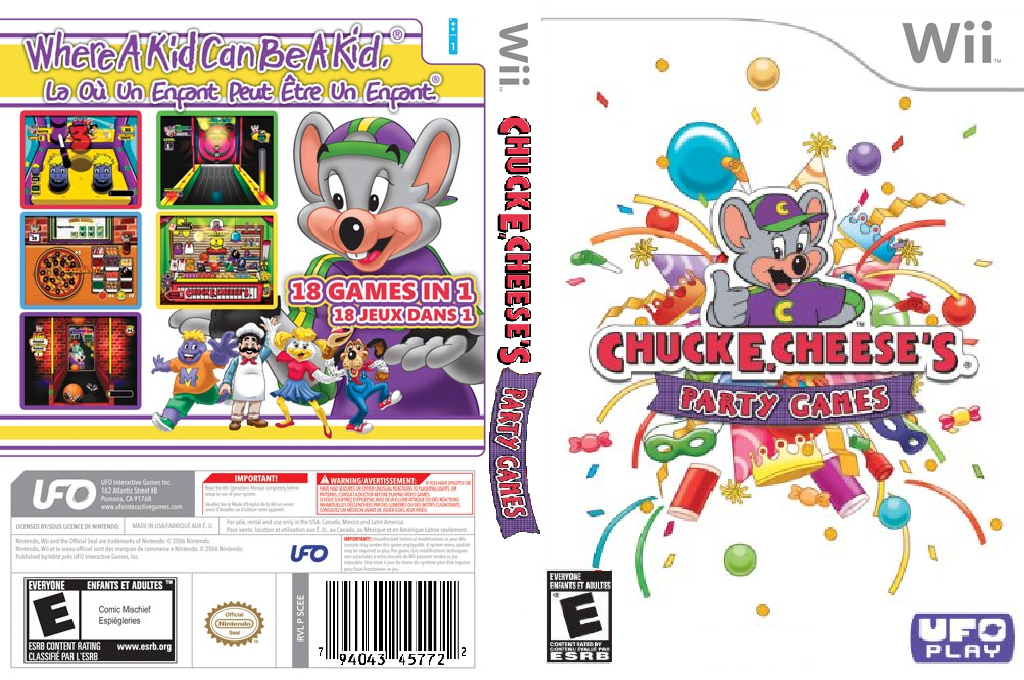 Chuck E. Cheese's Party Games Wii coverfullHQ (SCEE6K)