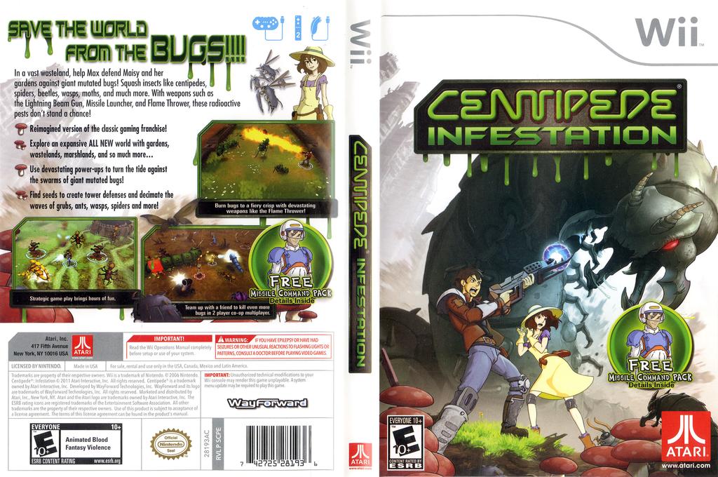 Centipede: Infestation Wii coverfullHQ (SCPE70)