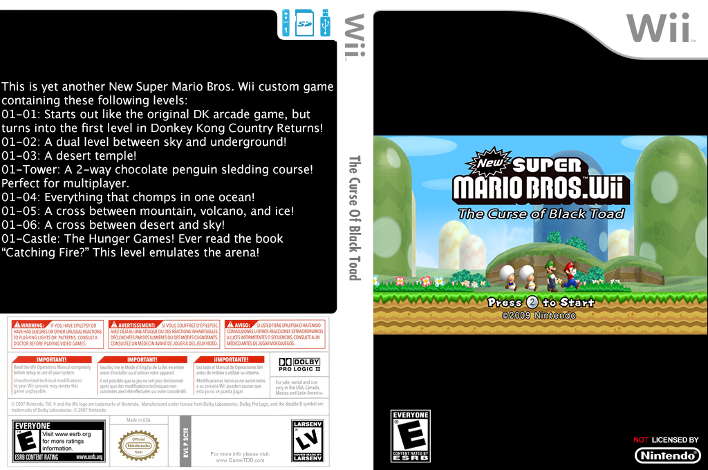 The Curse of Black Toad Wii coverfullHQ (SCTE01)