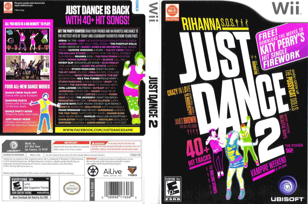 Just Dance 2 Wii coverfullHQ (SD2E41)
