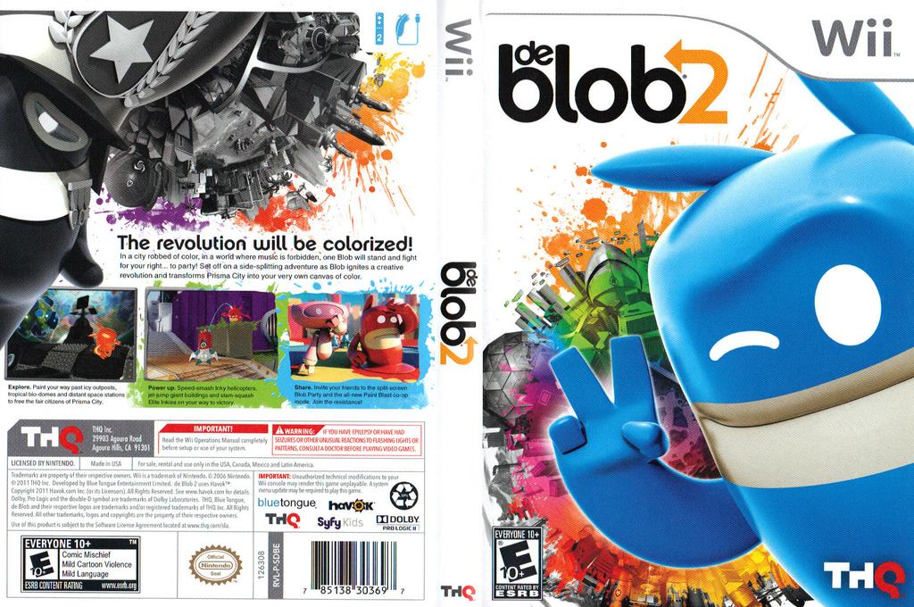 de Blob 2 Wii coverfullHQ (SDBE78)