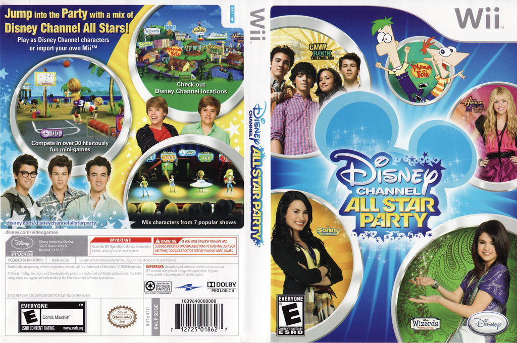 Disney Channel: All Star Party Wii coverfullHQ (SDGE4Q)