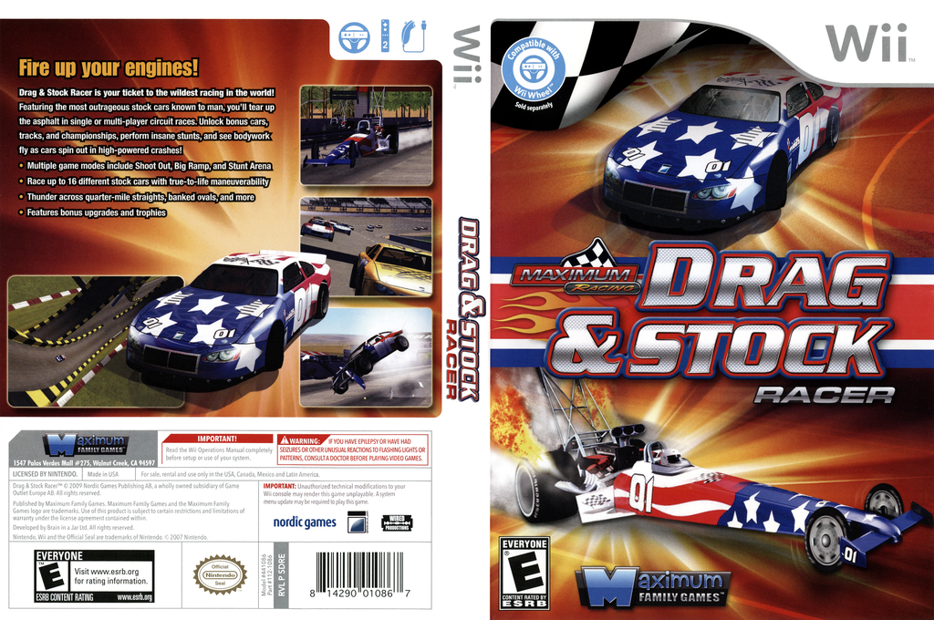 Maximum Racing: Drag & Stock Racer Wii coverfullHQ (SDREYG)