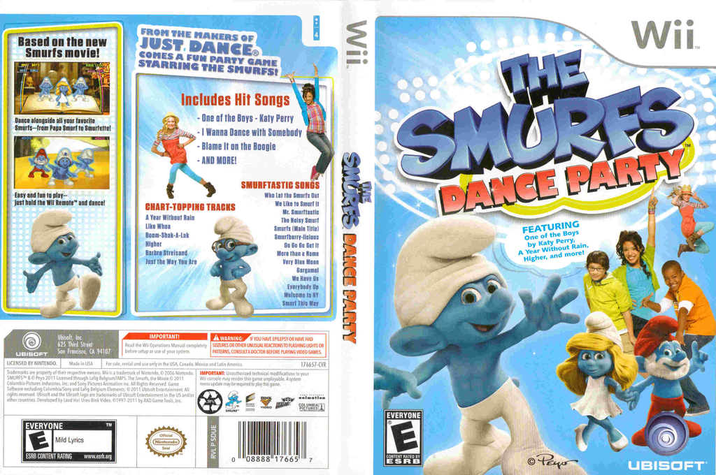 The Smurfs Dance Party Wii coverfullHQ (SDUE41)