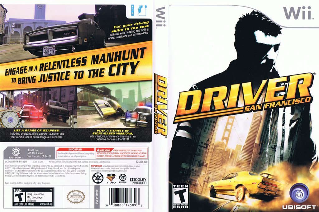 Driver: San Francisco Wii coverfullHQ (SDVE41)