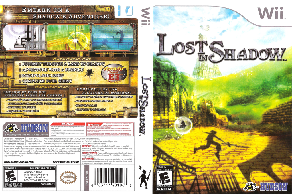 Lost in Shadow Wii coverfullHQ (SDWE18)