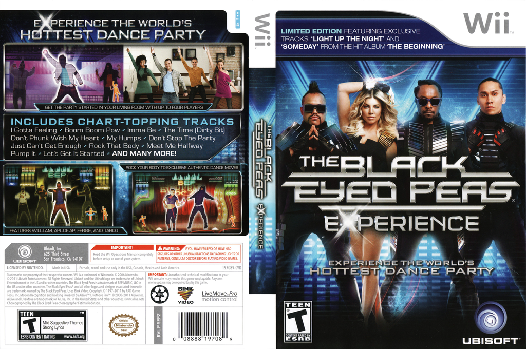 The Black Eyed Peas Experience: Limited Edition Wii coverfullHQ (SEPZ41)