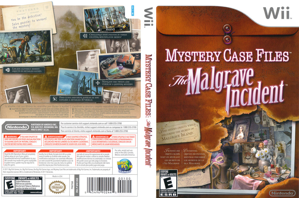 Mystery Case Files: The Malgrave Incident Wii coverfullHQ (SFIE01)