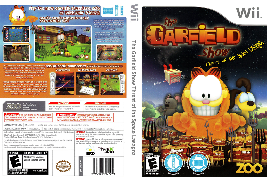 The Garfield Show: Threat of the Space Lasagna Wii coverfullHQ (SG7E20)