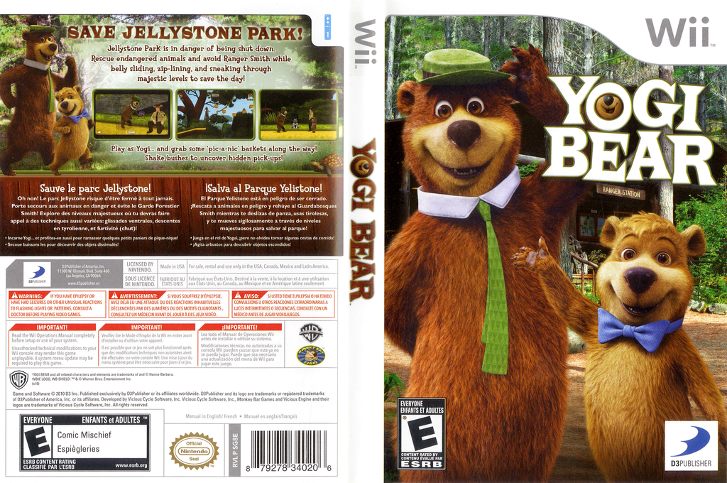 Yogi Bear Wii coverfullHQ (SG8EG9)