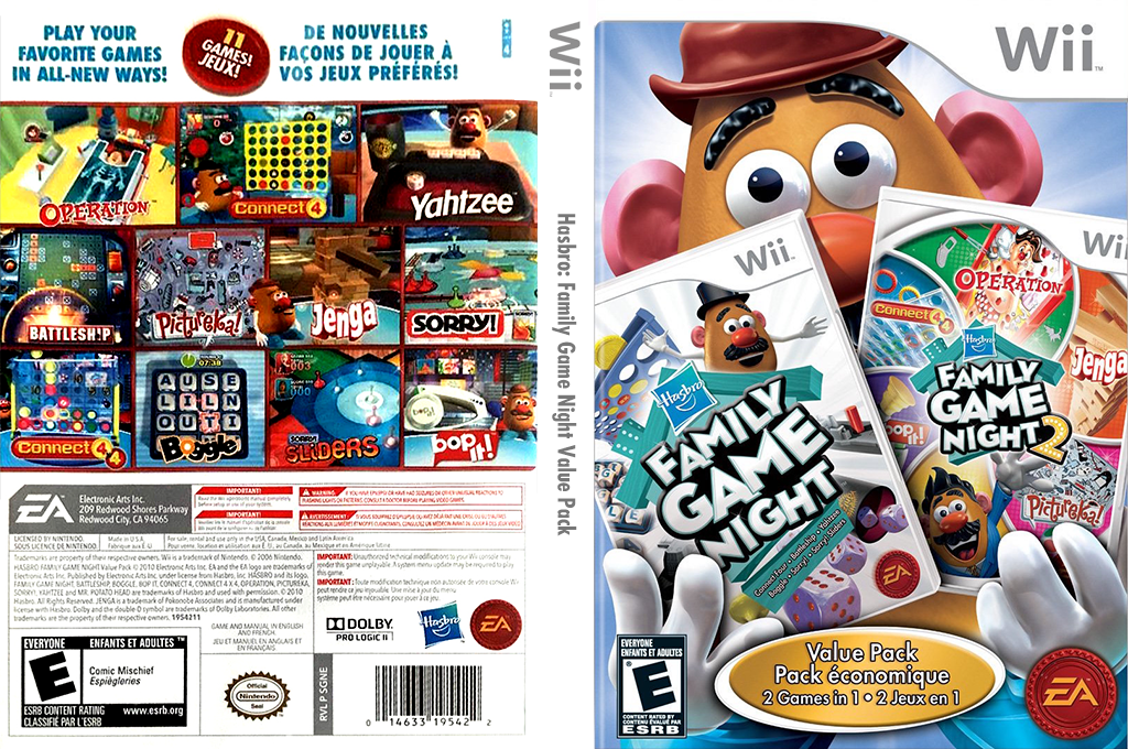 Hasbro: Family Game Night Value Pack Wii coverfullHQ (SGNE69)