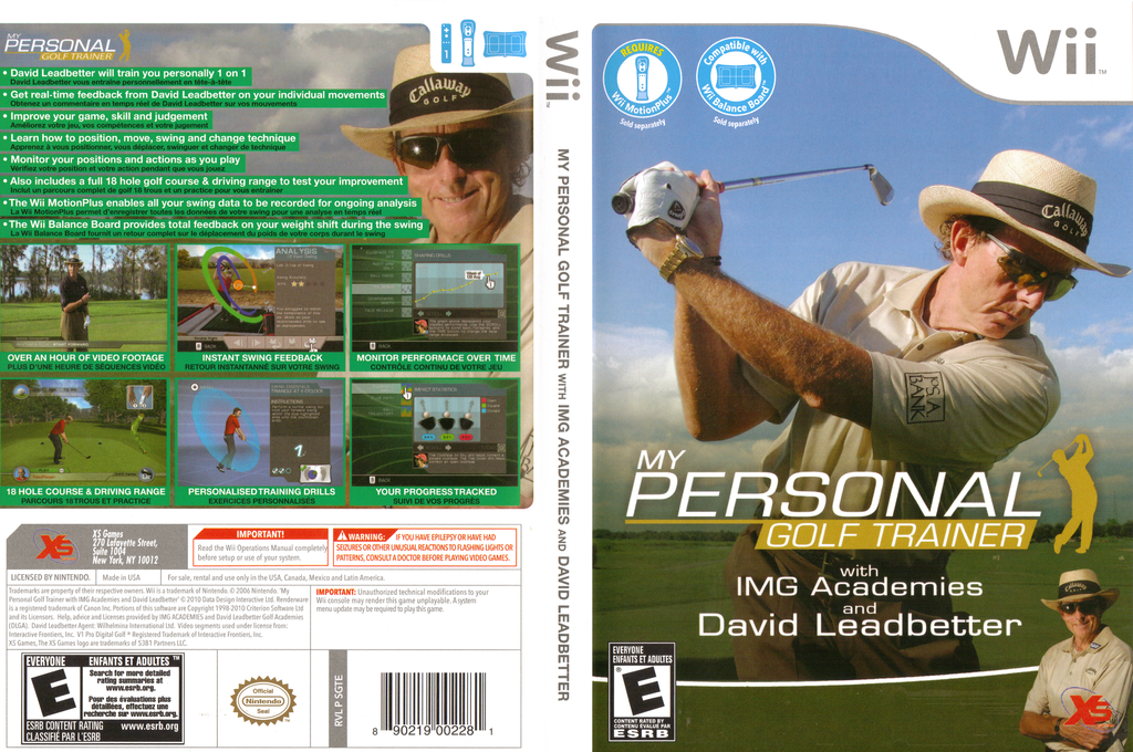 My Personal Golf Trainer with IMG Academies and David Leadbetter Wii coverfullHQ (SGTEFS)