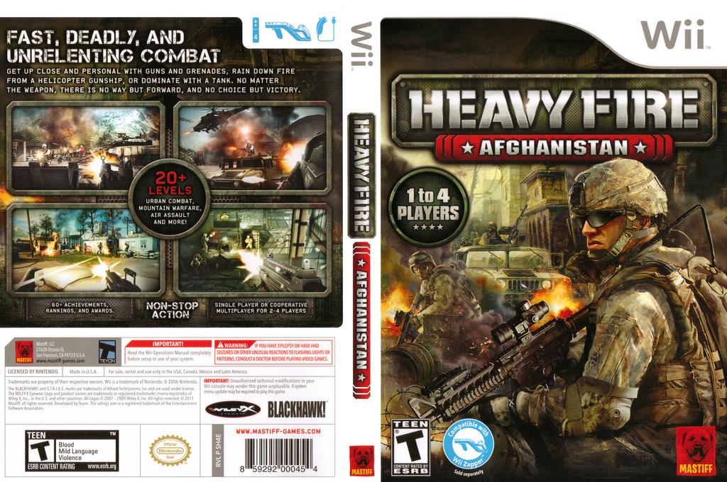 Heavy Fire: Afghanistan Wii coverfullHQ (SH4EFP)