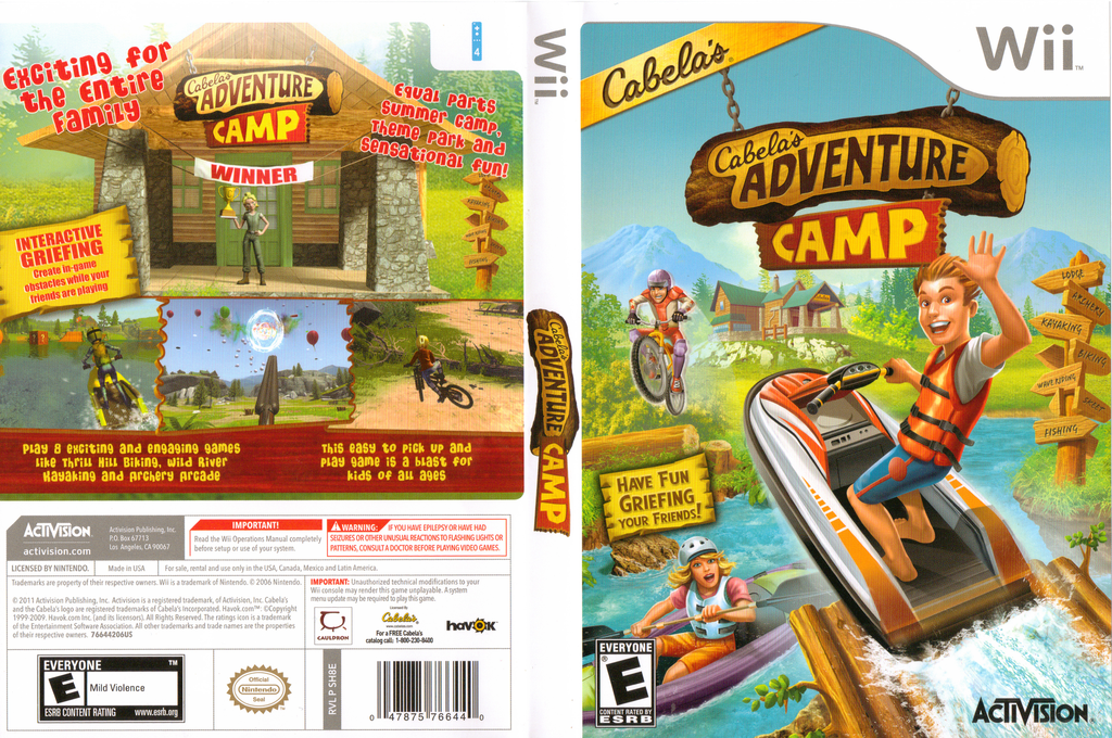 Cabela's Adventure Camp Wii coverfullHQ (SH8E52)