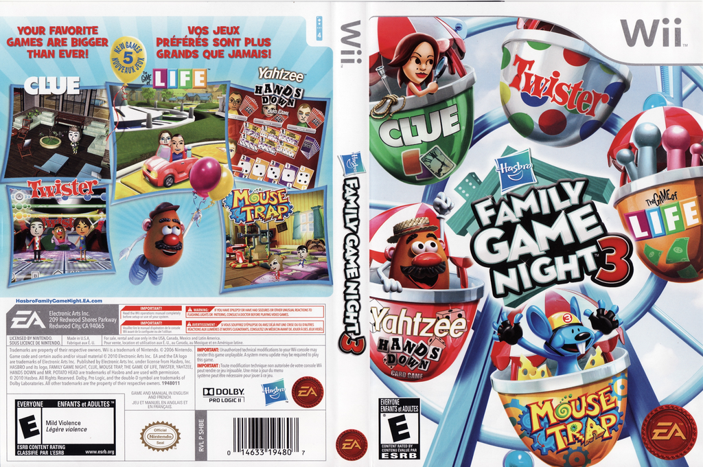 Hasbro: Family Game Night 3 Wii coverfullHQ (SHBE69)