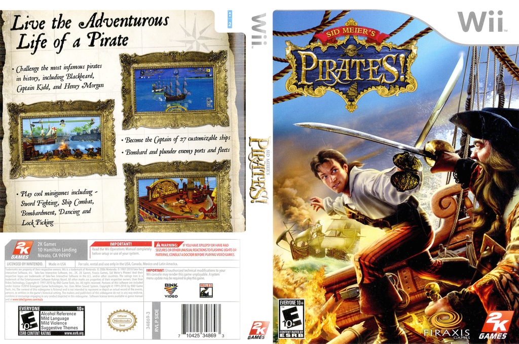 Sid Meier's Pirates! Wii coverfullHQ (SIDE54)