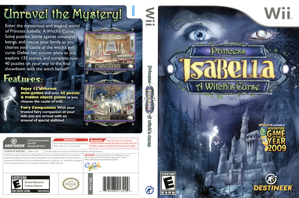 Princess Isabella: A Witch's Curse Wii coverfullHQ (SISENR)