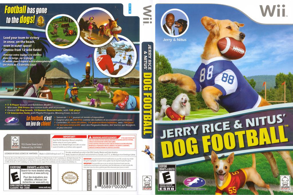 Jerry Rice & Nitus' Dog Football Wii coverfullHQ (SJCEZW)