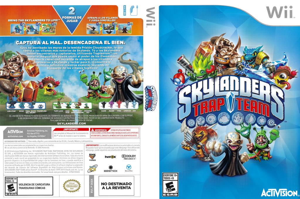 Skylanders: Trap Team Wii coverfullHQ (SK8X52)