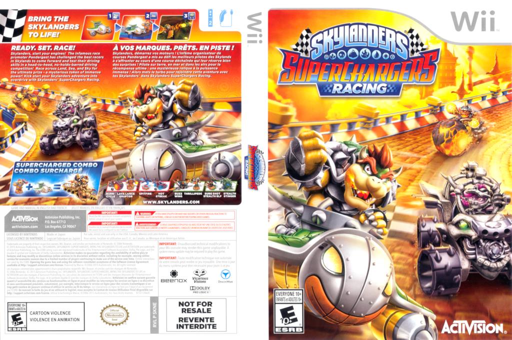Skylanders: SuperChargers Racing Wii coverfullHQ (SKNE52)