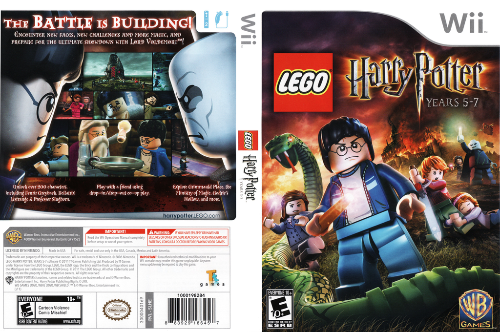 LEGO Harry Potter: Years 5-7 Wii coverfullHQ (SLHEWR)