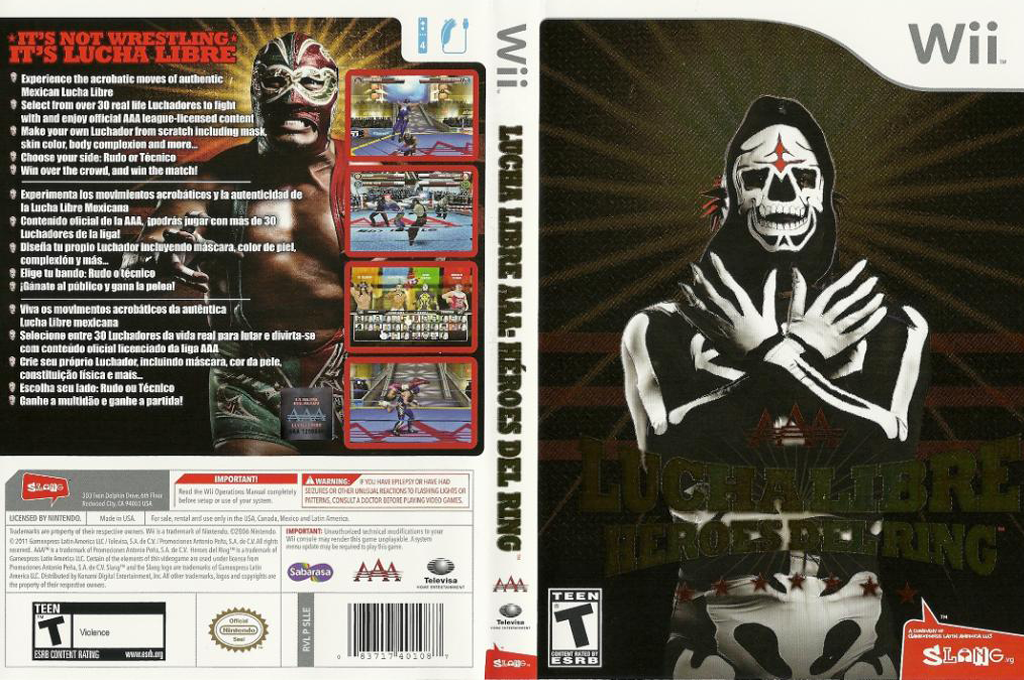 Lucha Libre AAA: Héroes del Ring Wii coverfullHQ (SLLEWW)