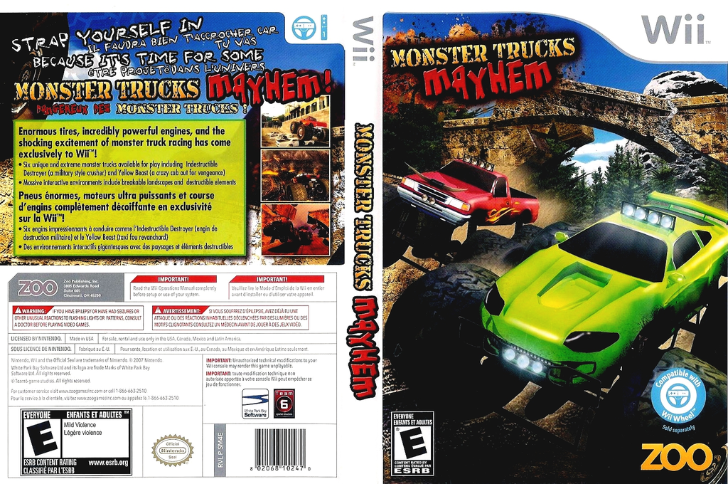 Monster Trucks Mayhem Wii coverfullHQ (SM4E20)