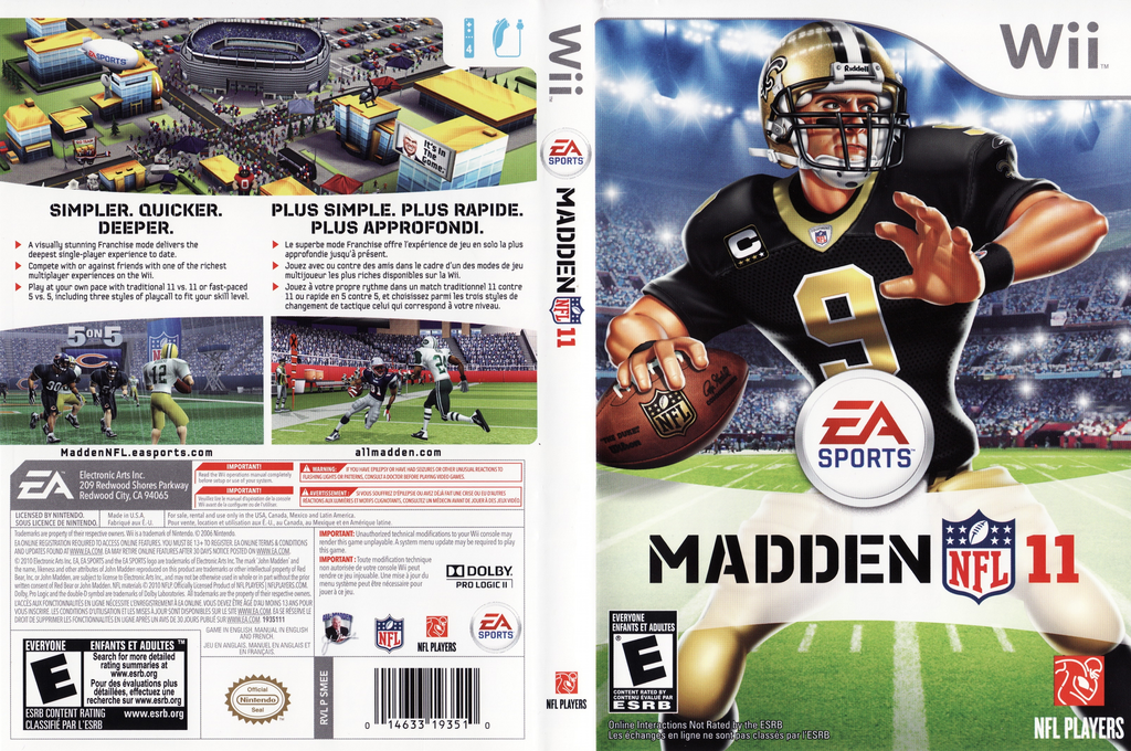 Madden NFL 11 Wii coverfullHQ (SMEE69)