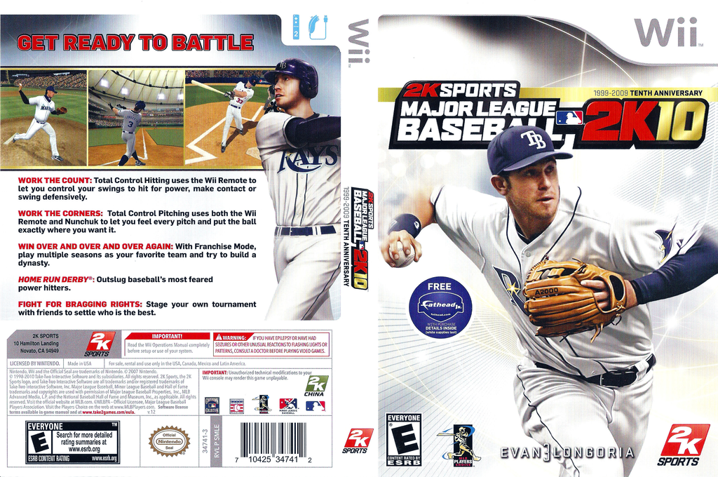 Major League Baseball 2K10 Wii coverfullHQ (SMLE54)