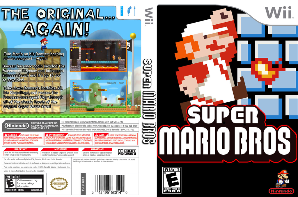 New Super Mario Remake Wii coverfullHQ (SMNE02)