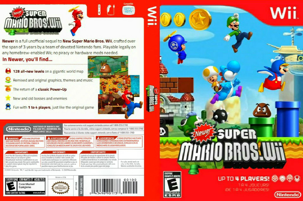 Newer Super Mario Bros. Wii Wii coverfullHQ (SMNE03)