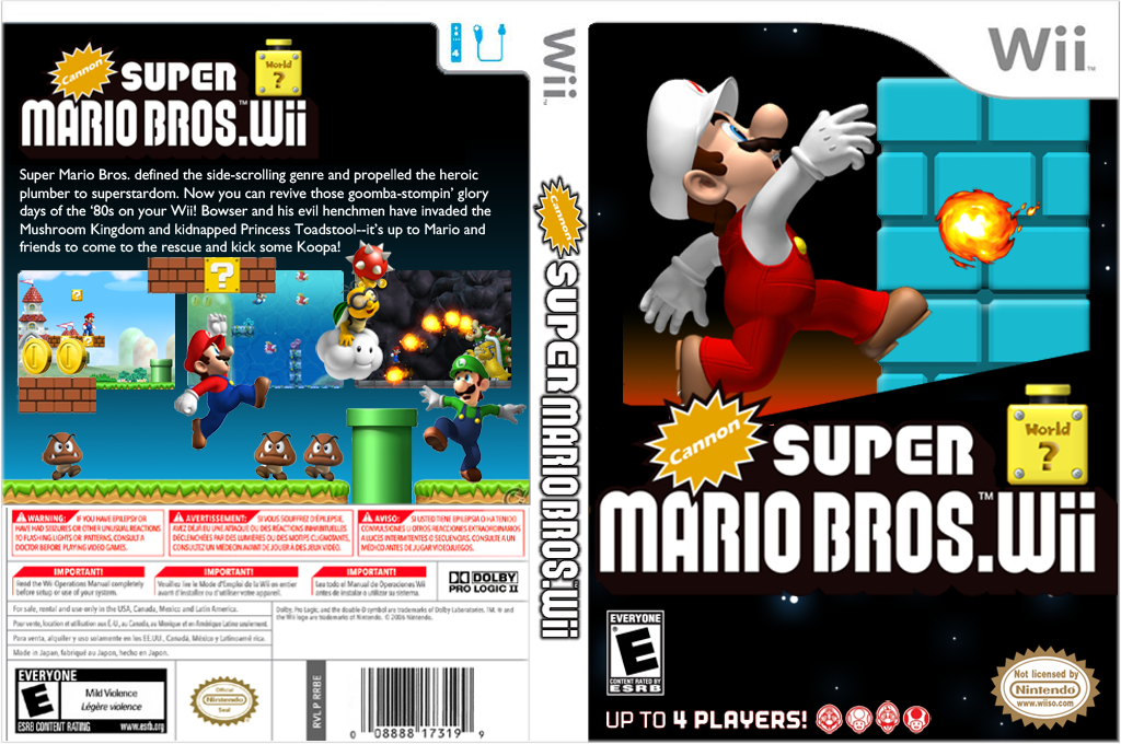 Cannon Super Mario Bros. Wii Wii coverfullHQ (SMNE04)