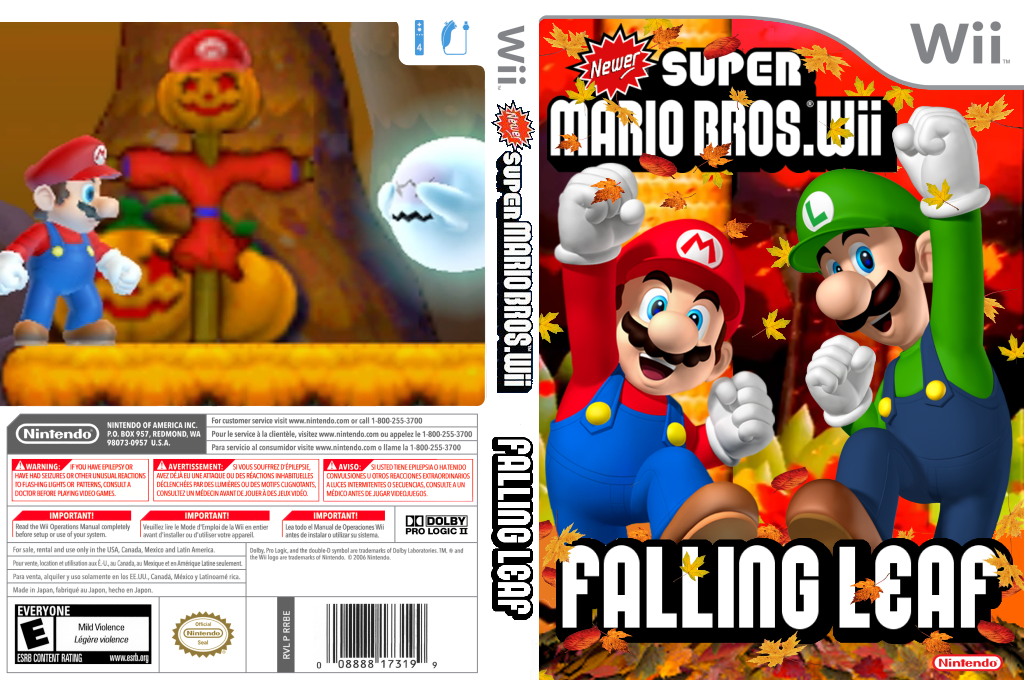 Newer Super Mario Bros. Wii: Falling Leaves Wii coverfullHQ (SMNE23)