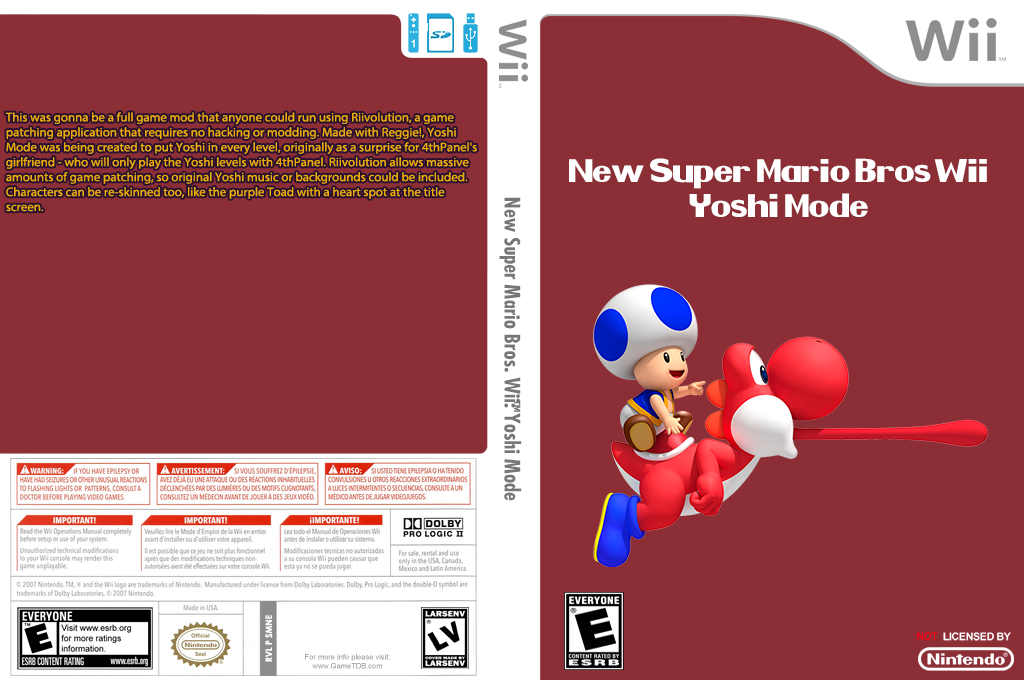 New Super Mario Bros. Wii: Yoshi Mode Wii coverfullHQ (SMNE34)